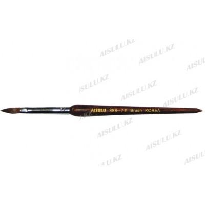 Кисточка для акрила №888 - 7# (с деревянной ручкой) AISULU