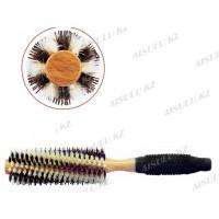 Брашинг AISULU-1116 деревян. Ø16, комбинир. щетина, прорезин. ручка
