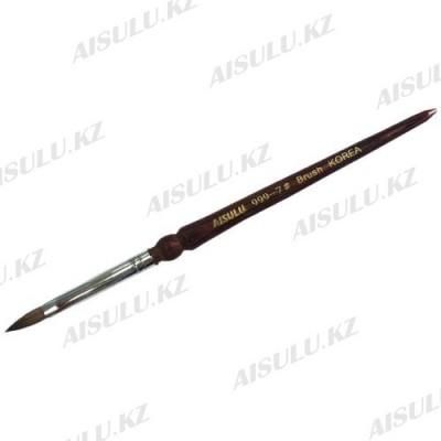 Кисточка для акрила №999 - 7# (с деревянной ручкой) AISULU