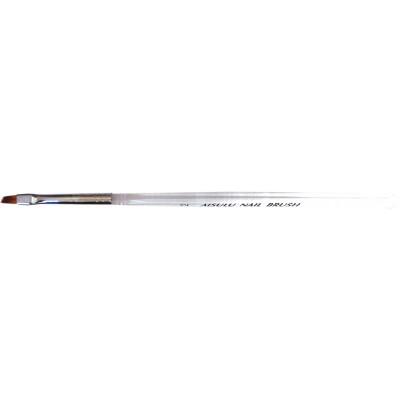 Кисточка для геля AISULU Nail Brush №2 прозр. ручкой, скошенная