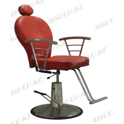 SH-83001 Кресло парикмахерское с откидной спинкой (красное, гладкое)
