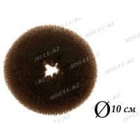 Валик для объема волос Q-65 темно-коричневый Ø 10 см AISULU (ср)