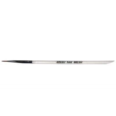 Кисточка для нейл-дизайна AISULU Nail Brush # 1 с прозр. ручкой