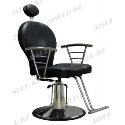 SH-83001 Кресло парикмахерское с откидной спинкой (черное, гладкое)