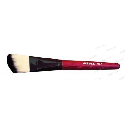 Кисть для нанесения масок и парафина №957 (скошенная) AISULU