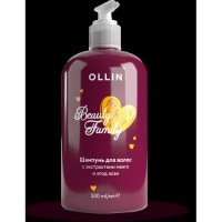Шампунь OLLIN Beauty family для волос с экстрактами манго и ягод асаи 500 мл