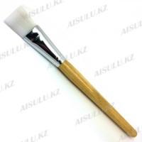 """Кисть для нанесения парафина """"AISULU""""-958 оранжевая деревянная ручка"""
