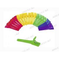 Клемма пластик. для фиксации прически цветная