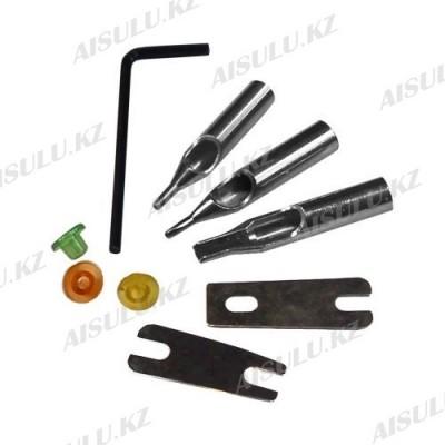 Комплект для тату аппарата (наконечники, пружинка, нипель, ключ)