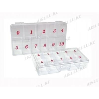 Контейнер для типсов прозрачный (б) 11 в 1
