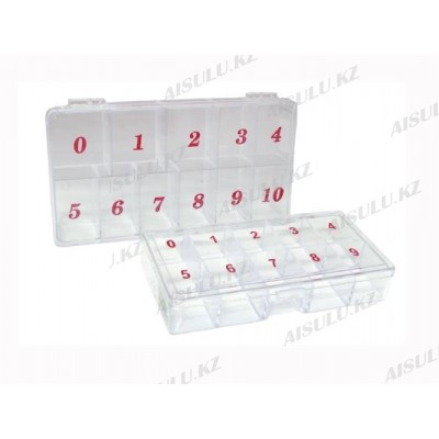 Контейнер для типсов прозрачный (ср) 10 в 1