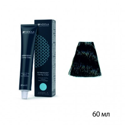 Крем-краска indola New 1,0 черный натуральный 60 мл