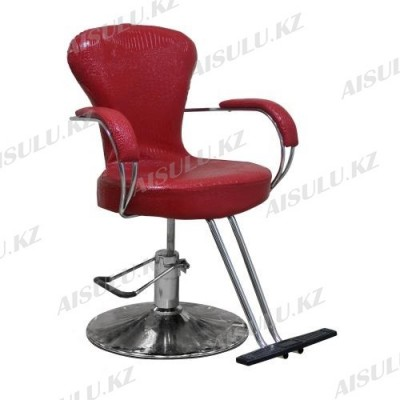 H-682 Кресло парикмахерское (красное, глянец,