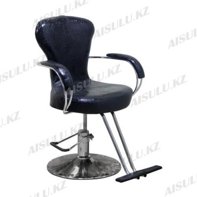 H-682 Кресло парикмахерское (черное, глянец,