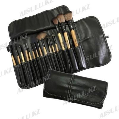 Набор кистей для макияжа - 15 шт. (овечья щетина), на завязках AISULU