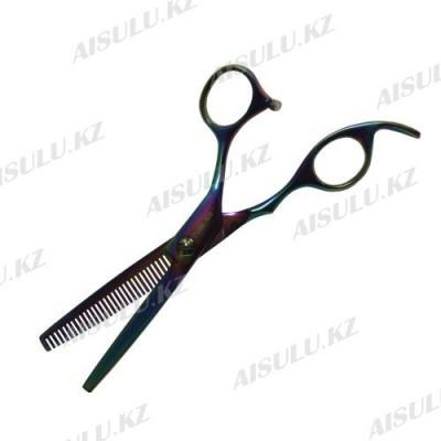 Ножницы филиров. 1-сторон. FА-802 - 5,5 см эргономика хамелеон
