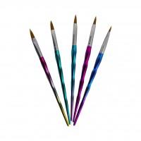 Набор кистей для акрила AISULU 5в1 (ручка хамелеон)
