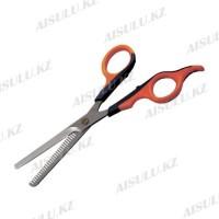 Ножницы филиров. 1-сторон. УB-628 - 6 см резиновая ручка AISULU