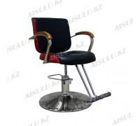 JH-8160 Кресло парикмахерское (черно-красное, гладкое)