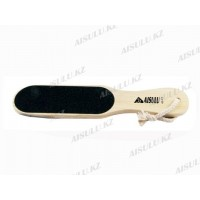 Пилка двухсторонняя для ног AS-414 (деревянная) (б), AISULU