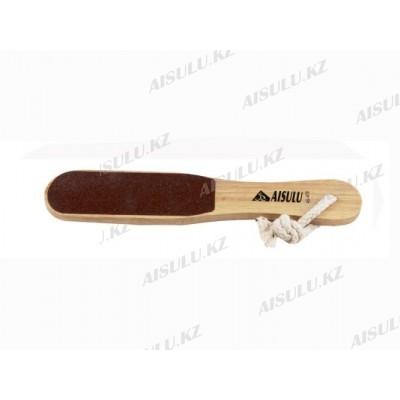 Пилка для ног деревянная AS-419 двухсторонняя (ср) AISULU