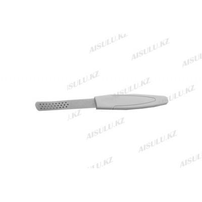 Пилка для ногтей металлическая с дырочками (1 шт.)