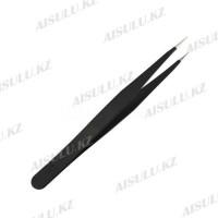 Пинцет для наращивания ресниц прямой А-84 (черный) AISULU
