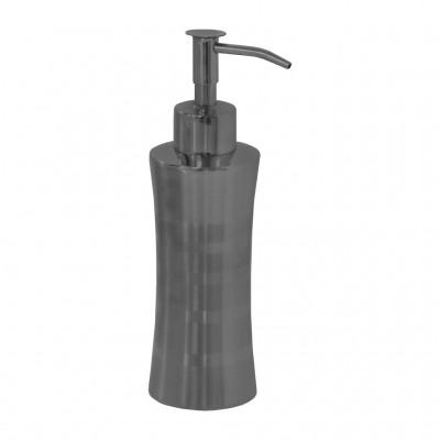 Дозатор для жидкого крема или мыла SH-06 КРУГЛЫЙ металлич. 250 мл