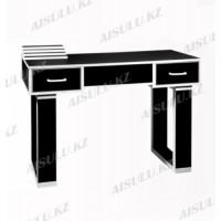 NE-22 Стол маникюрный с двумя задвижками (черный)
