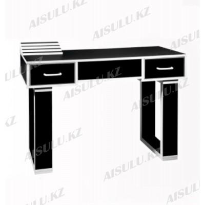 NE-22 Стол маникюрный с двумя задвижками (черный глянец)