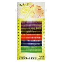 Ресницы цветные декоративные, 12 мм на планшетке толщина 0,15 мм A-484