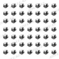 Серьги для прокола ушей в наборе 48 пар (в розовой уп.)
