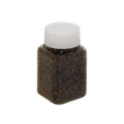Скобы для холодного наращивания волос 100 г (коричневые)