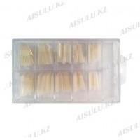 Типсы для наращивания острой формы в контейнере 100 шт. (натуральные)