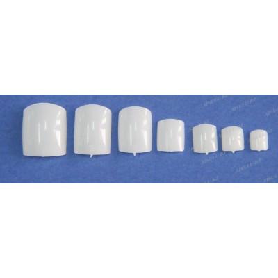 Типсы Натуральные-накладные для педикюра разных размеров 500 шт.