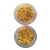 Фольга для нейл-дизайна 12-в-1 в банке (золото)