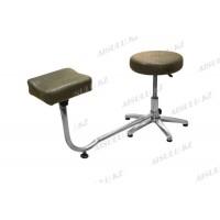 TR-047 Подставка педикюрная с креслом для мастера без спинки (коричневая,