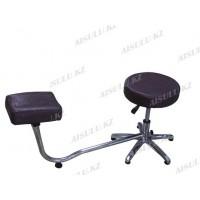TR-047 Подставка педикюрная с креслом для мастера без спинки (сиреневая,
