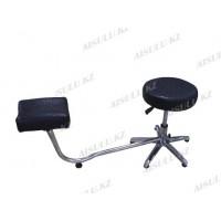 TR-047 Подставка педикюрная с креслом для мастера без спинки (черная,