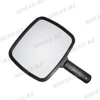 Зеркало для клиентов J-78 квадратное, одностороннее, пластик. с ручкой, черное