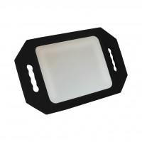Зеркало для клиентов №986 прямоугольное, с двумя ручками, небьющееся (в ассорт.)