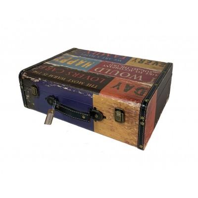 Чемодан/кейс для барбера кожзам с двумя замками 40 х 30 х 14 см в ассорт.