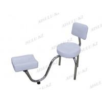 TR-048 Подставка педикюрная с креслом для мастера со спинкой (белая,