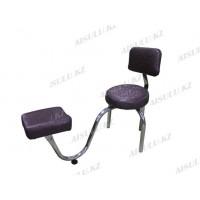 """TR-048 Подставка педикюрная с креслом для мастера со спинкой (сиреневая, """"паутина"""")"""