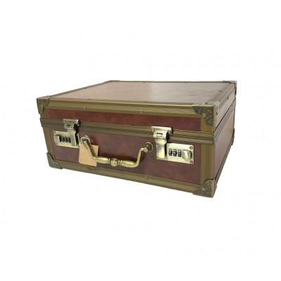 Чемодан/кейс для барбера кожзам с двумя кодовыми замками 35 х 28 х 16 см в ассорт.