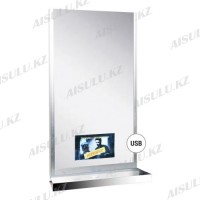 YC-E4012 Зеркало навесное прямоугольное с полочкой, встроенный LED-дисплей