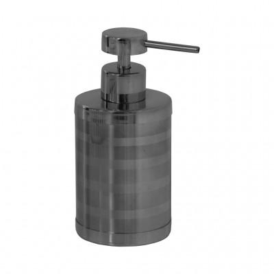 Дозатор для жидкого крема или мыло SH-06 КРУГЛЫЙ металлич. 300 мл