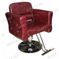 JH-8668 Кресло парикмахерское (бордовое, глянец, гладкое)