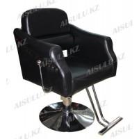 JH-8663 Кресло парикмахерское (черное, гладкое)