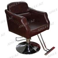 JH-8671 Кресло парикмахерское (коричневое, гладкое)